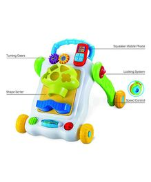 Baybee 2 in 1 Learning Activity Walker - Yellow