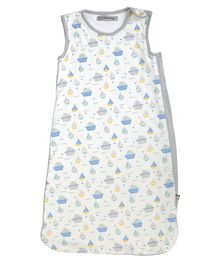 Mi Dulce An'ya Organic Cotton Sleeping Bag Ship Print - White