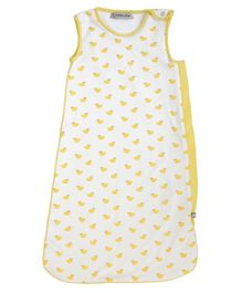 Mi Dulce An'ya Organic Cotton Sleeping Bag Bird Print - Yellow White