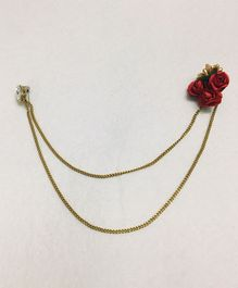 Funkrafts Rose Design Broach - Golden