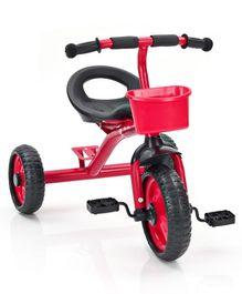 Tricycle With Storage Basket - Red