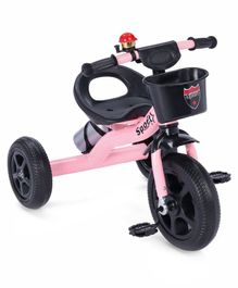 Tricycle With Water Bottle - Pink