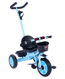 Tricycle With Parent Push Handle - Blue