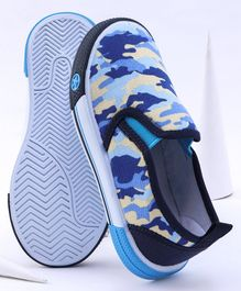 Cute Walk by Babyhug Camouflage Canvas Shoes - Blue
