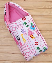 Fisher Price 3 in 1 Baby Carry Nest Animal Print - Pink
