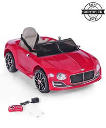 Battery Operated Ride On Bentley Car With Parental Remote - Red