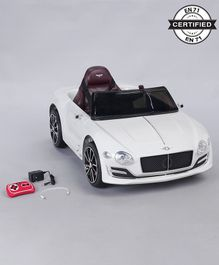 Battery Operated Ride On Bentley Car With Parental Remote - White