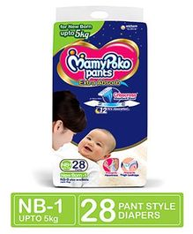 MamyPoko Extra Absorb Pant Style Diapers New Born - 28 Pieces