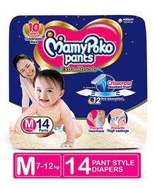 MamyPoko Pant Style Diapers Medium - 14 Pieces