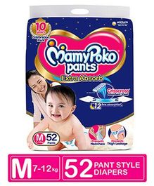 MamyPoko Pant Style Diapers Medium - 52 Pieces