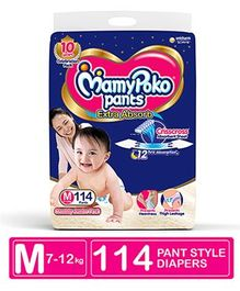 MamyPoko Pant Style Diapers Medium - 114 Pieces