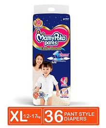 MamyPoko Pant Style Diapers Extra Large - 36 Pieces