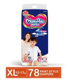 MamyPoko Pant Style Diapers Extra large - 78 Pieces