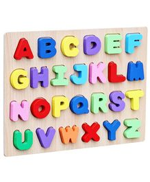 Webby Wooden Capital Alphabet Puzzle Multicolour - 26 Pieces
