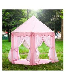 Webby Kids Castle Play Tent With 30 Balls - Pink