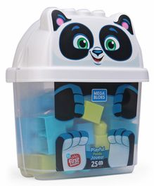 Mega Bloks Playful Panda Joueur Building Blocks - 25 Pieces