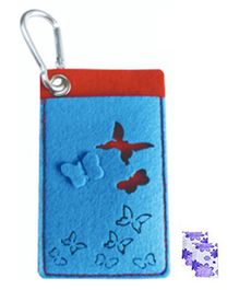 Safe-O-Kid Mosquito Repellent Pouch Butterfly Design With Two Refills - Blue