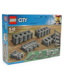 Lego City Tracks Building Set Grey - 20 Pieces