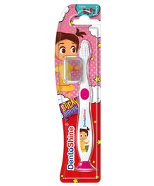 DentoShine Sticky Toothbrush - White & Pink