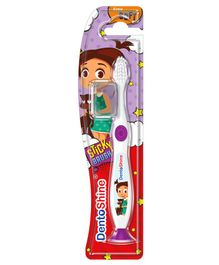 DentoShine Sticky Toothbrush - White & Purple