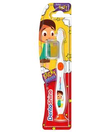 DentoShine Sticky Toothbrush - White & Orange