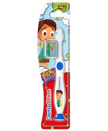 DentoShine Sticky Toothbrush - White & Blue