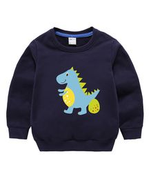 26026fb6f3e Pre Order - Awabox Dinosaur Printed Full Sleeves Sweatshirt - Dark Blue
