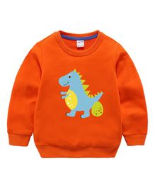 30047f61795 Pre Order - Awabox Dinosaur Printed Full Sleeves Sweatshirt - Orange