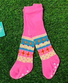 The Sandbox Clothing Co Printed Footed Elasticated Stockings - Pink