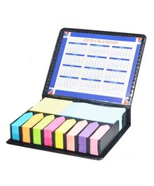 Syga Sticky Notes With Leather Case - Multicolor