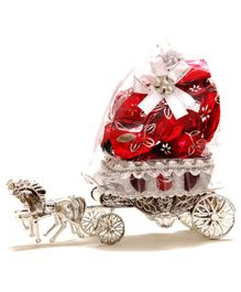 Skylofts Horse Carriage Chocolate Holder Gift Set - Red
