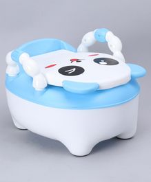 Baby Potty Chair Panda Design - Blue