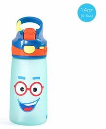 Rabitat Sipper Bottle With straw Pink Sparky Print Blue - 410 ml