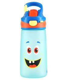 Rabitat Sipper Bottle With straw Honey Buns Print Blue - 410 ml