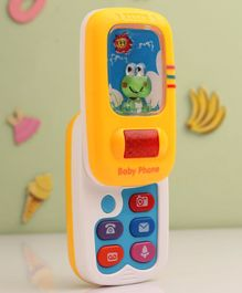 Babyhug Slider Mobile Phone With Music & Light - Yellow