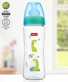 Babyhug Square Feeding Bottle Blue - 250 ml