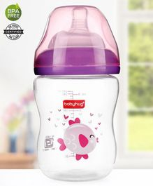 Babyhug Wide Neck Feeding Bottle Pink - 250 ml