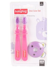 Babyhug Soft Dental Set - Pink Purple