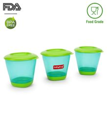 Babyhug Weaning Pots Set of 3 - Sea Green