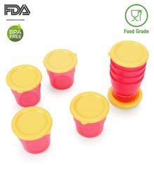 Babyhug Freezer Snack Pots Set of 8 - Pink