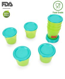 Babyhug Freezer Snack Pots Set of 8 - Green