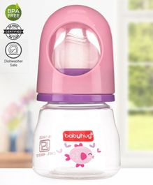 Babyhug Anti Colic Feeding Bottle Pink - 60 ml