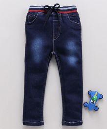 Cucumber Full Length Jeans With Drawstring - Blue