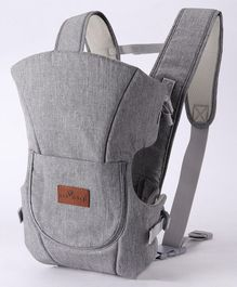 1st Step 3 Way Carrier With Adjustable Padded Straps & Side Openings - Light Grey