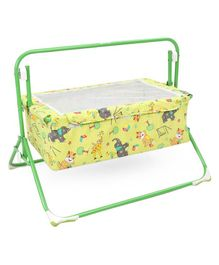 Mothertouch Wonder Cradle Animal Print - Green Yellow