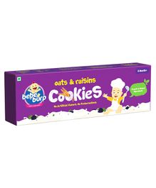 Bebe Burp Organic Baby Food Oats & Raisins Cookies - 200 gm