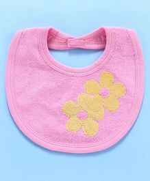 Child World Bib Floral Print - Yellow