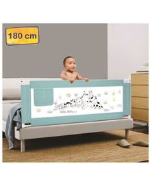 Syga Premium Baby Bed Rail 1.8 Meters Animal Print - Blue