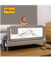 Syga Premium Baby Bed Rail 2 Meters Animal Print - Grey