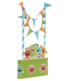 B Vishal  Monster Themed Cake Topper Kit - Green
